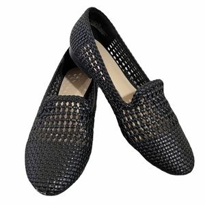 BP Wesley Woven Perforated Black Flats Nordstrom